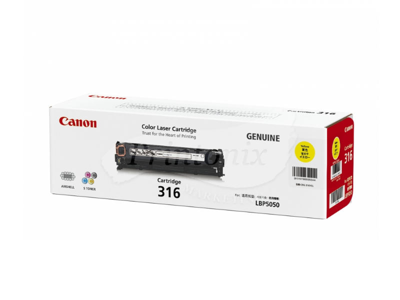 Canon 316 Yellow Original Toner Cartridge