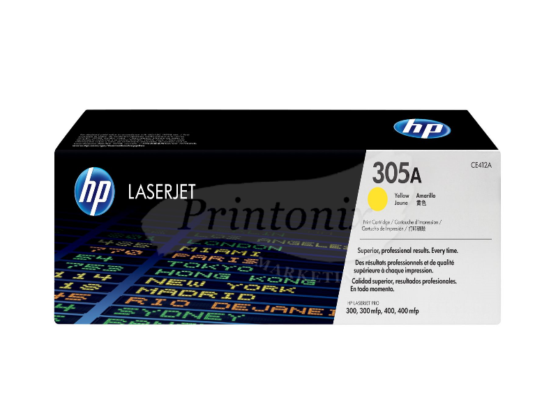 HP CE412A (305A) Yellow Original Toner Cartridge
