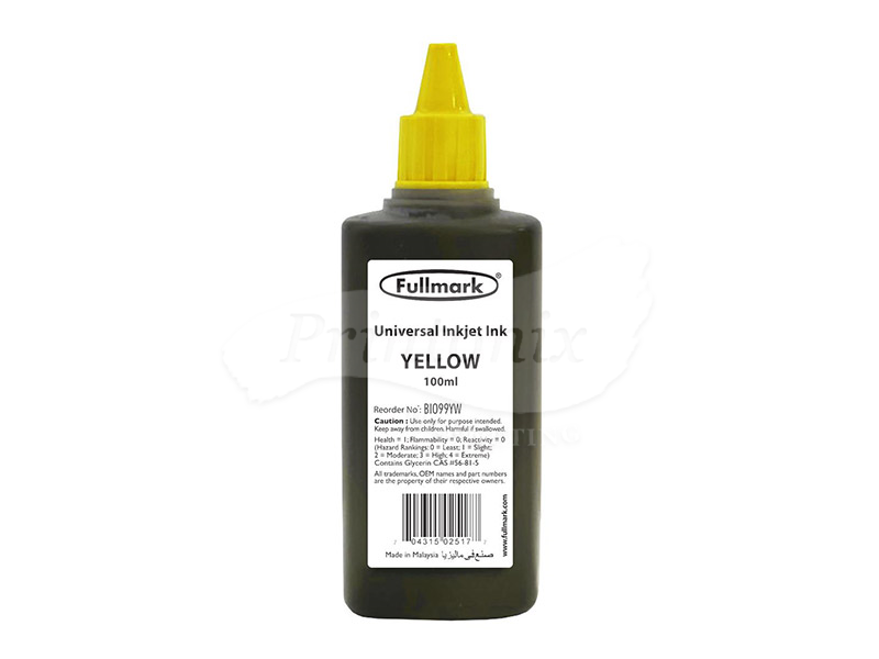 100ML YELLOW UNIVERSAL REFILL INK (BI099)