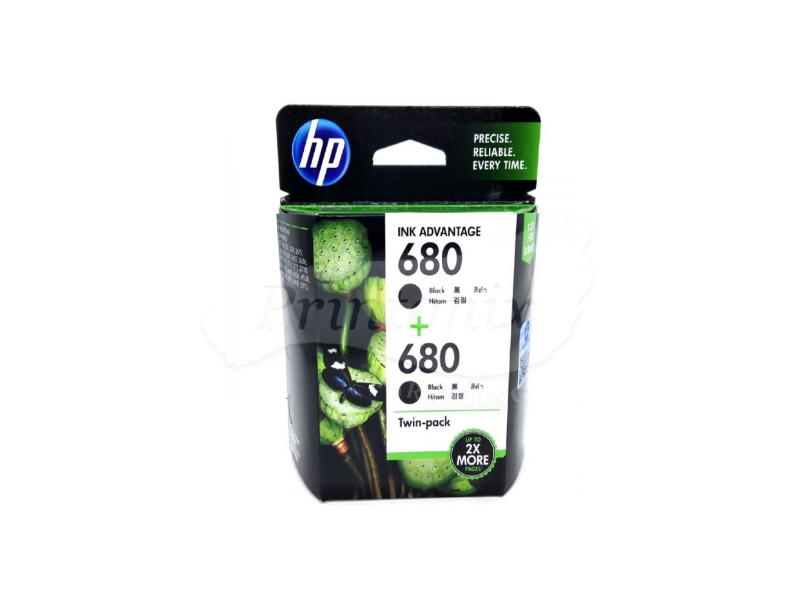 HP 680 Twin Pack Black Original Ink Cartridge