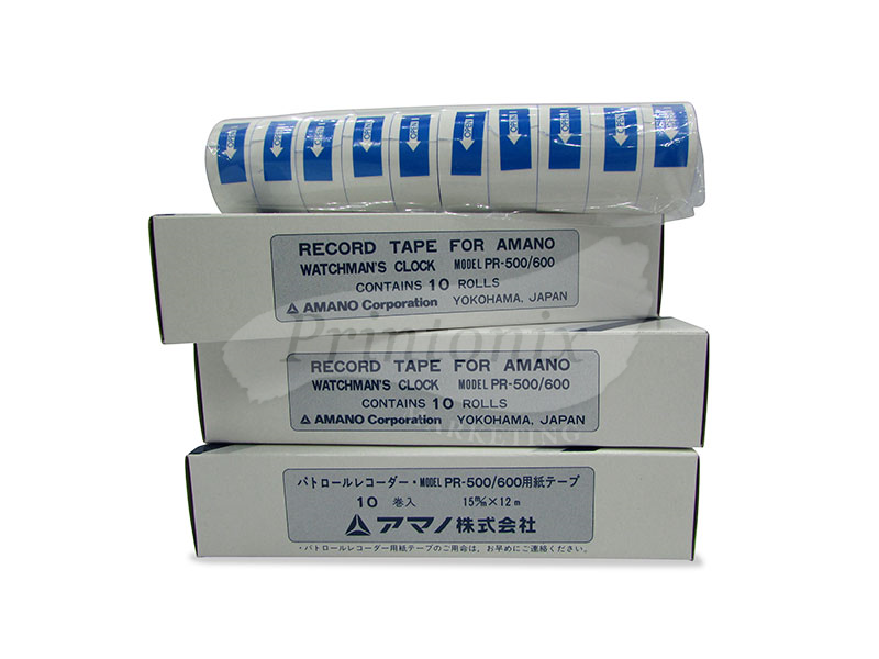 Record Tape for Amano Watchman clock PR-500/ PR-600 (30Rolls)
