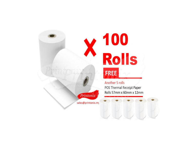 Thermal Paper Roll 576012 (1 ctn X 100 ROLLS)